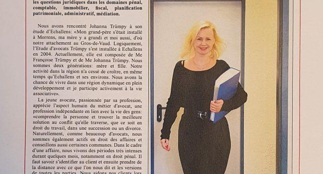 Article paru dans l'Echo du Gros-de-Vaud, étude Trümpy à Echallens, en sa qualité de membre de l'Association de la Région du Gros-de-Vaud– merci à Dany Schaer, journaliste, et à Alain Flückiger, Secrétaire général de l'Association.